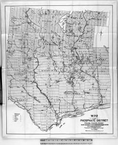 Carte des mines 1891