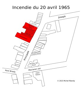 Carte incendie 20 avril 1965